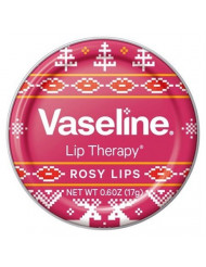 Vaseline Rosy Lip Therapy Holiday Sweater Designed 0.6 oz