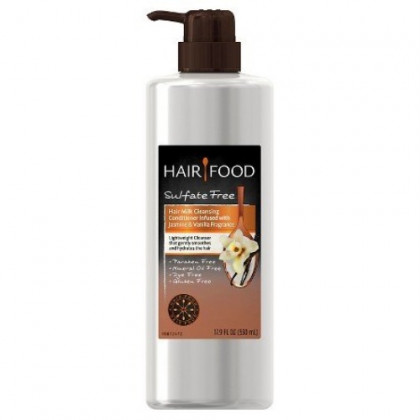 Hair Food Hair Milk Cleansing Conditioner Infused with Jasmine & Vanilla Fragrance 17.9 oz