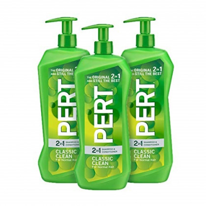 Pert Classic Clean 2 in 1 Shampoo and Conditioner, 33.8 Ounce (Pack of 3)
