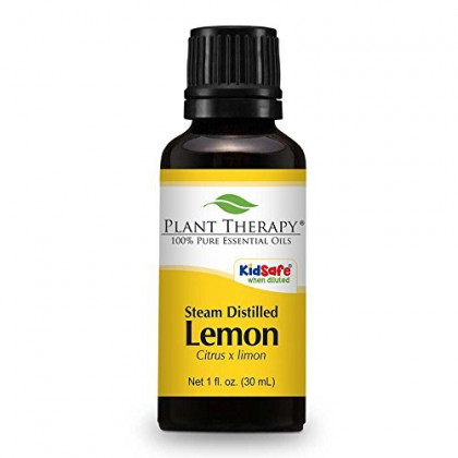 Plant Therapy Lemon Steam Distilled Essential Oil 30 mL (1 oz) 100% Pure, Undiluted, Therapeutic Grade