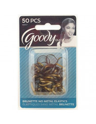 Goody WoMens Ouchless Latex Elastics, Brunette, 50 Count
