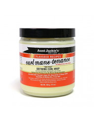 Aunt Jackie's Flaxseed Recipes Curl Mane-tenance, Lightwieght Anti-Poof Defining Curl Whip, Enriched with Flaxseed, Argan Oil and Shea Butter, Great for Dry and Frizzy Hair, 15 Ounce Jar