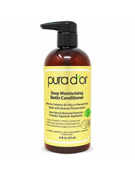 PURA D'OR Deep Moisturizing Conditioner Softens, Smooths, & Moisturizes - For Dry, Frizzy, Damaged Hair - Made with Argan Oil and Natural Ingredients, Men & Women, 16 Fl Oz (Packaging May Vary)