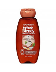 Garnier Whole Blends Shampoo with Coconut Oil & Cocoa Butter Extracts, 12.5 Fl Oz (1 Count)