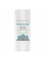 Brighten Up New Skin Amplifying Moisturizer by VASANTI - Enriched with Aloe, Vitamin C, and Arbutin from Bearberry Leaves - Get Healthy Glowing Skin - Full Size (2.03 fl. oz.)