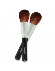 Blush Brush 100% Natural Goat Hair Brush Set for Contouring, Blending, Bronzing & Highlighting. Mineral Makeup, Powder & Foundation Brush - Demure Cosmetics by Deluvia. Two for One Make-Up Brushes!