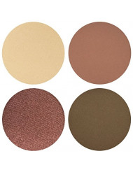 Weekender Eyeshadow Quad Palette - 4 Highly Pigmented Single Powder Eye Shadow Pans, Magnetic Refill 26mm, Professional Quality Makeup, Paraben and Gluten Free, Cruelty Free Cosmetics