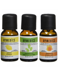 HoMedics Aromatherapy Therapeutic Essential Oil Sampler for a Diffuser