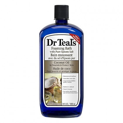 Dr. Teals Coconut Oil Foaming Bath, 34 Ounce