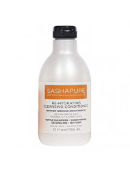SASHAPURE Re-Hydrating Cleansing Conditioner 12 Ounce Sulfate-Free (355ml) Gently Cleansing, Conditioning, Detangling, No Foam