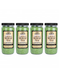 Village Naturals Therapy, Mineral Bath Soak, Aches and Pains Muscle Relief, 20 oz, Pack of 4