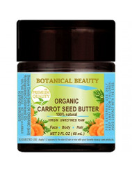 ORGANIC CARROT SEED OIL - BUTTER RAW. 100% Natural/VIRGIN/UNREFINED. 2 Fl oz - 60 ml. For Skin, Hair, Lip and Nail Care.