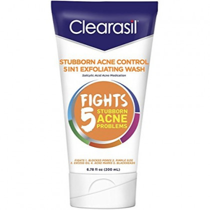 Clearasil Ultra 5in1 Exfoliating Wash, 6.78 oz. (Pack of 2)