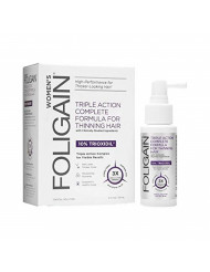 Foligain Triple action complete formula for thinning hair for women with 10% trioxidil 2 fluid ounce, 2 Fl Oz