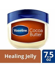 Vaseline Rich Conditioning Petroleum Jelly, Cocoa Butter 7.5 oz (Pack of 10)