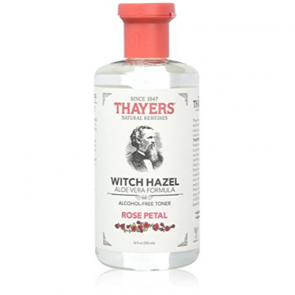 Thayers Alcohol-free Rose Petal Soothing Witch Hazel for Face & Skin with Aloe Vera, 12 oz(Pack of 3)