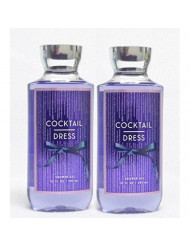 Set of 2 Bath Body Works Cocktail Dress Shower Gels 10 Ounce Each Limited Edition Holiday 2016