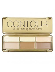 BYS Cream Contouring Palette Tin Collection with Mirror, Creme Contouring Palette, Contour Cream Palette