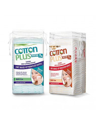 COTTON PLUS SOLUTION 2 IN 1 - EYE AND FACE MAKE-UP REMOVER MAXI 50 COMBO SET