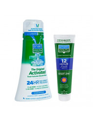 SmartMouth Original Activated Oral Rinse and Premium Toothpaste for 24 Hour Bad Breath Prevention