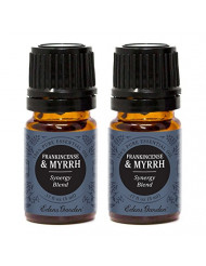 Edens Garden Frankincense & Myrrh Essential Oil Synergy Blend, 100% Pure Therapeutic Grade (Highest Quality Aromatherapy Oils- Skin Care & Stress), 10 ml Value Pack