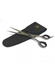 """GBS Professional Hair Cutting Scissors - 7 1/2"""" - Silver with Finger Inserts and Adjustment Tension Screw - Case Included Barber Approved and Tested"""