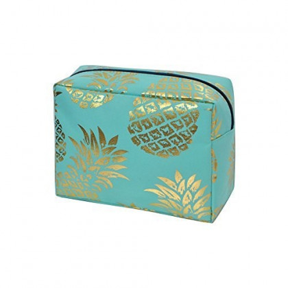 Gold Pineapple (Mint) NGIL Large Cosmetic travel Pouch