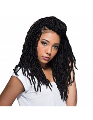 """Bobbi Boss Synthetic Hair Crochet Braids African Roots Braid Collection Nu Locs 14"""" (4-PACK, 1B)"""