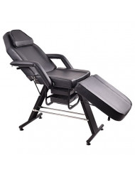 Black Adjustable Massage Salon SPA Chair Beauty Table Tattoo Parlor Facial Bed Multi Purpose Fashionable And Flexible Style Heavy Duty Iron Frame Professional Therapists Back Home Therapy