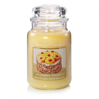 Yankee Candle Warm Pineapple Upside Down Cake Large Jar Candle, Fruit Scent