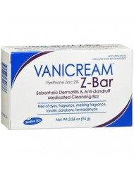 Vanicream Z-Bar | Medicated Cleansing Bar for Sensitive Skin | Maximum OTC Strength Zinc Pyrithione 2% | Helps Relieve Itching, Redness, and Flaking | 3.36 ounce