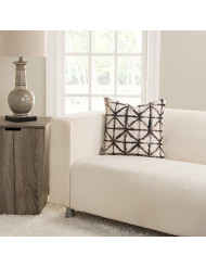SIScovers Reflection Tan and Brown Polyester Accent Pillow Down Alternative, Polystyrene Beads Oversized 26 x 26