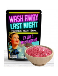 Wash Away Last Night Bath Soak - Pink Bath Salts Luxury Bath Funny Girlfriend Gifts For Best Friends Bath And Body Gifts For Women Mediterranean Sea Salts Ladies Night Gifts Bachelorette Party Favors