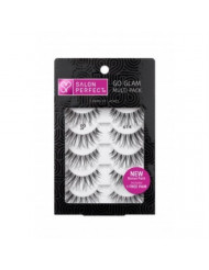Salon Perfect Go Glam Lashes Multi Pack Eyelashes, 614 Black, 5 Pairs