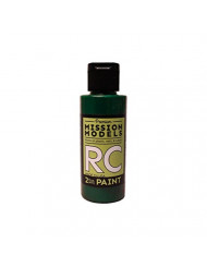 Mission Models MMRC-052 Water-Based RC Paint, 2 oz Bottle, Translucent Green