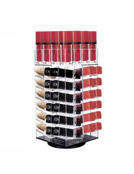 Acrylic Rotating Lipstick Holder, Alotpower Cosmetic Organizer Tower 64 Lipstick Holder Organizer Makeup Tower Organizer