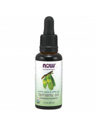 Now Solutions, Organic Tamanu Oil, Certified Organic and 100% Pure, Promotes Hydration and Rejuvenation, 1-Ounce