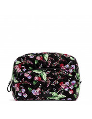 Vera Bradley Women's Signature Cotton Large Cosmetic Makeup Bag, Winter Berry, One Size