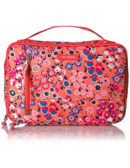 Vera Bradley Lighten Up Large Blush & Brush, Coral Meadow