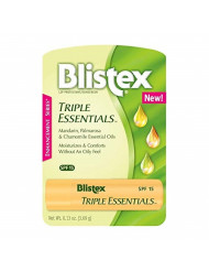 Blistex Triple Essentials Lip Protectant Sunscreen SPF 15 Lip Balm (Pack of 2)