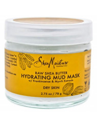 Shea Moisture Raw Butter Hydrating Mud Mask for Unisex, 2.75 Ounce