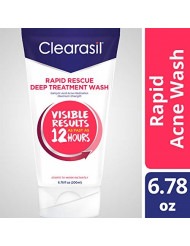 Clearasil Rapid Rescue Deep Treatment Wash, 6.78 oz. (packaging may vary) (Pack of 6)