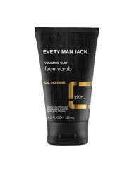 Every Man Jack Volcanic Clay Face Scrub, Oil Defense, Fragrance Free, 4.2-ounce