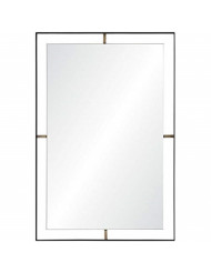 "Renwil Inc MT1857 Heston - 30.5"" Rectangular Mirror, Matte Black Finish"
