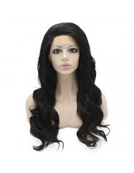 Mxangel Long Wavy Heat Resistant Lace Front Synthetic Wig Natural