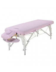 Master Massage 31 Inch Montclair LX Pro Portable Massage Table Package with Memory Foam, Crystal Rose