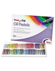 Pentel Oil Pastel Set With Carrying Case, 45-Color Set, 50/Set (PENPHN50)