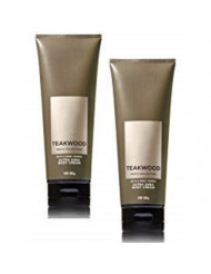Bath and Body Works 2 Pack Men's Collection Ultra Shea Body Cream TEAKWOOD. 8 Oz