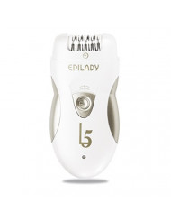Hair Removal Electric Epilator - Epilady L5 Rechargeable Epilator for Women & Men (White/Golden)