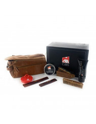 """GBS Men's Travel Grooming Set - Doppler Travel Bag +Tortoise Hair Combs: Dressing Comb, and Pocket Comb - Wood Style Folding Comb, 5"""" Coarse Fine Wood Pocket Comb + Soothfast Control Hair"""